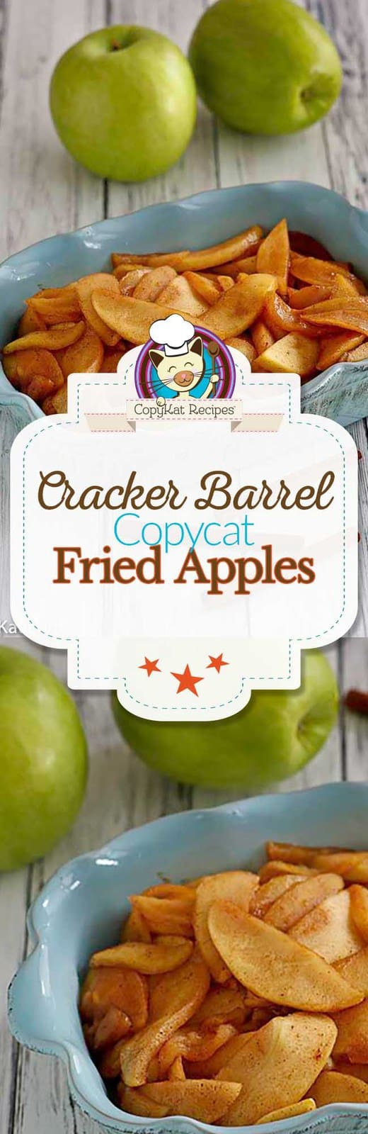 Recreate the best copycat Cracker Barrel Fried Apples at home with this easy copycat recipe.  #crackerbarrel #friedapples #apples #fresh
