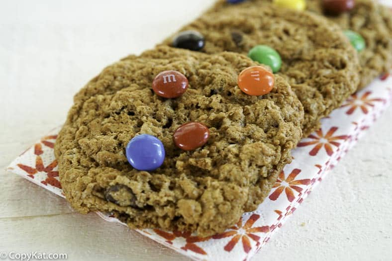 You can make these gluten-free monster cookies. They call them Monster cookies because they have everything in them, but the kitchen sink!
