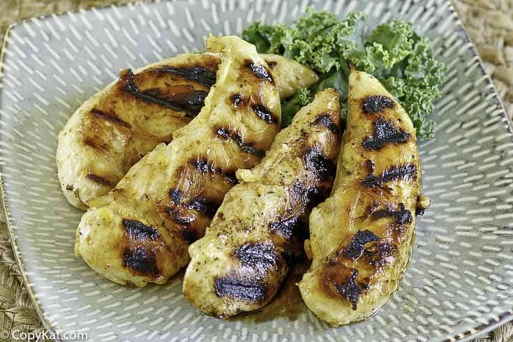 grilled chicken tenders on a plate