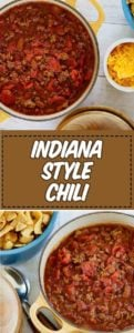 two bowls of chili with cheese chips and more