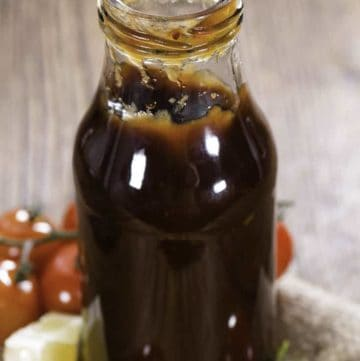 A bottle of copycat Kenny Rogers barbecue sauce.