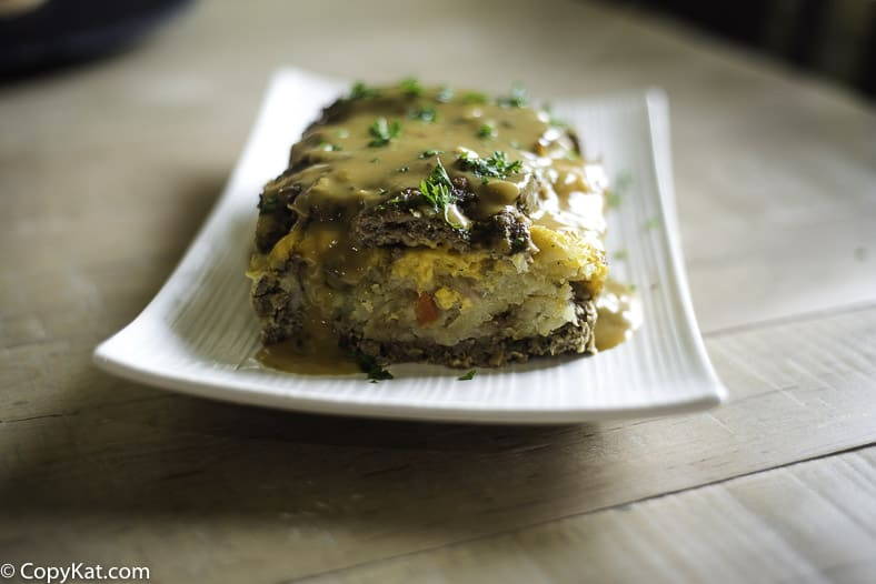 Stuffed Meatloaf recipe made with a dry soup mix.