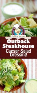 Collage of Outback Steakhouse Caesar Salad Dressing photos