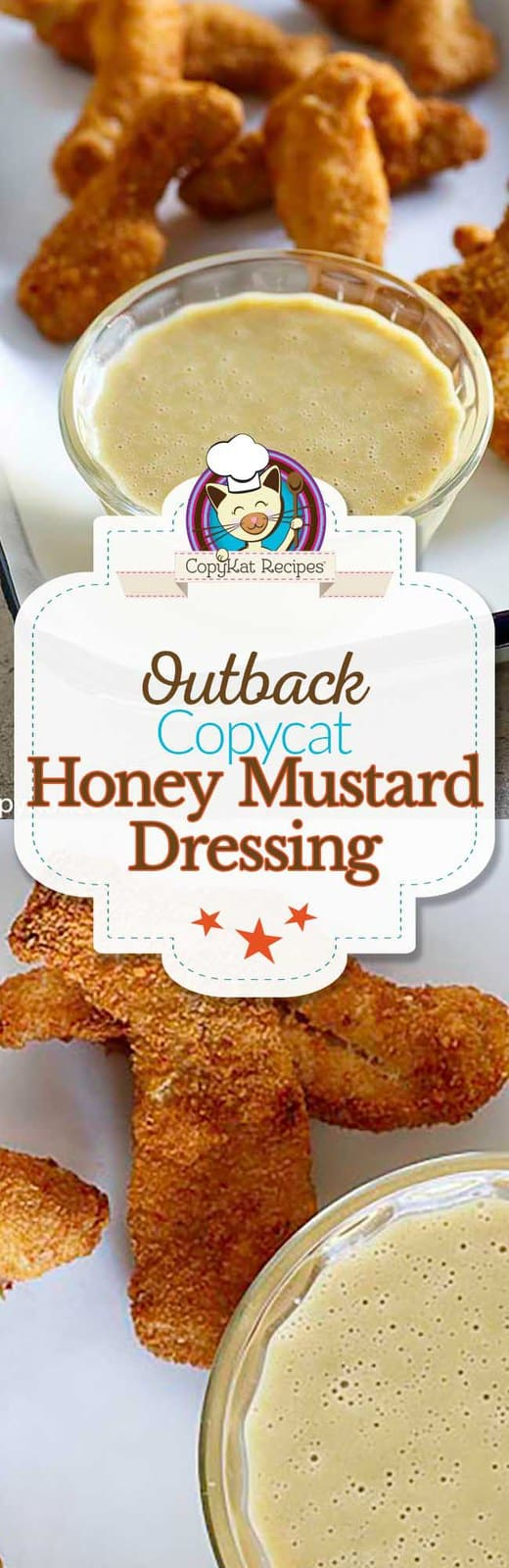 You can recreate the Outback Steakhouse Honey Mustard at home with this easy copycat recipe.  This recipe is perfect sauce for chicken tenders or a salad.  #copycat #copycatrecipe #honeymustard #outback #outbacksteakhouse