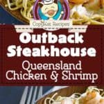 Collage of Outback Steakhouse Queensland chicken and Shrimp photos