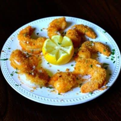 Plate of homemade Morton's shrimp alexander