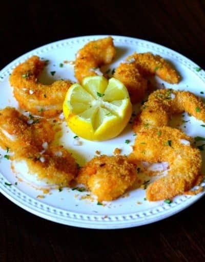 Plate of homemade Morton's shrimp alexander