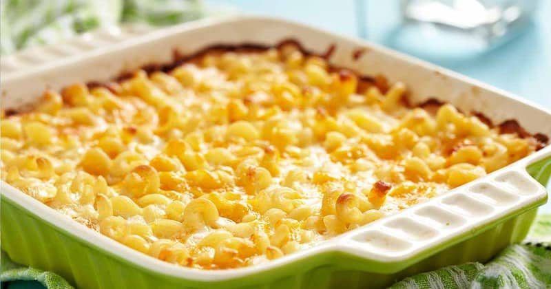 Homemade Sweetie Pie's Macaroni and Cheese in a baking dish