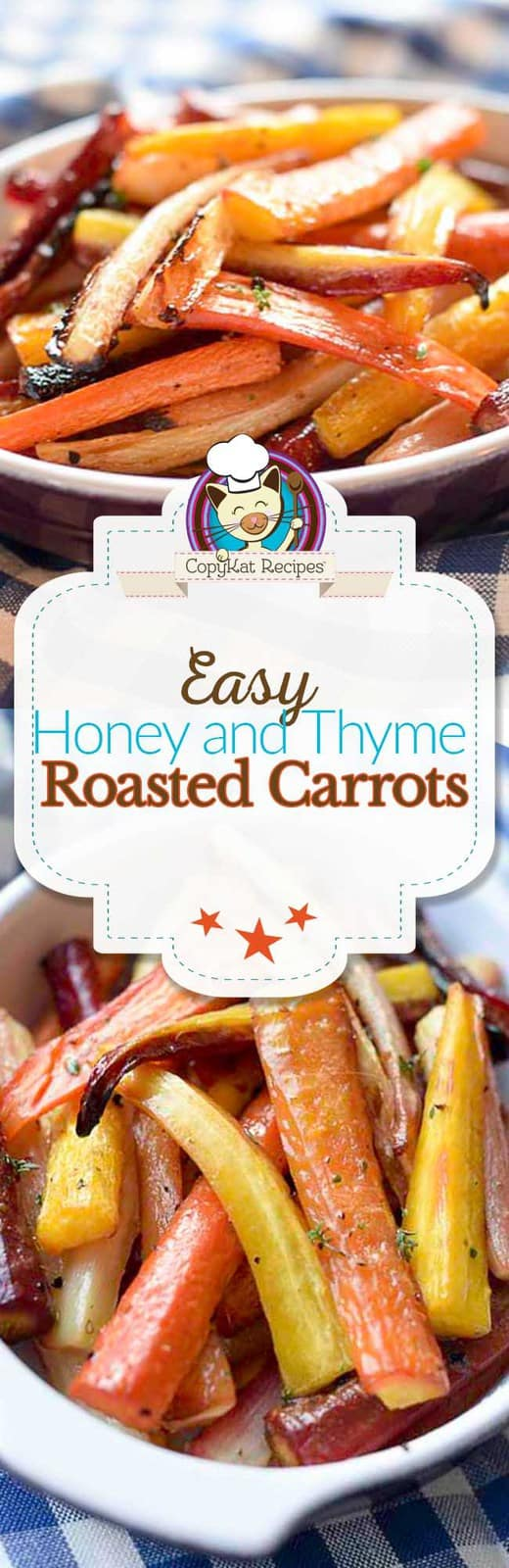Honey and Thyme roasted carrots are simply delicious and so easy to make. Step by step instructions on how to make these tasty carrots.