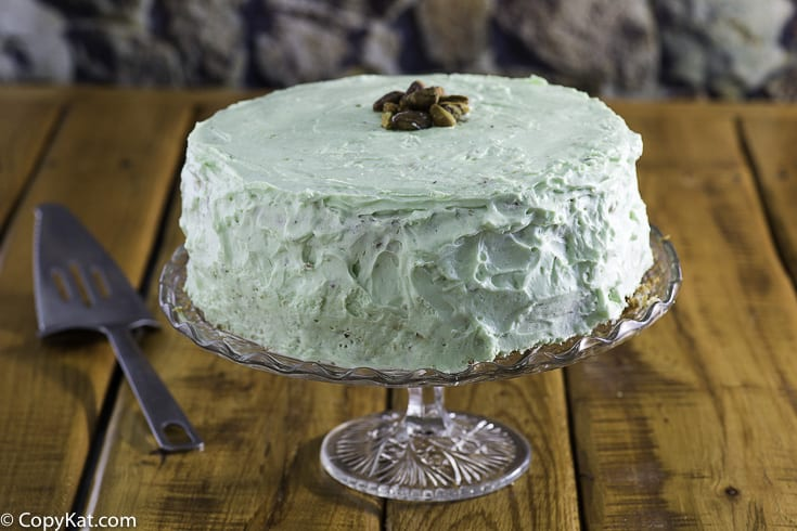 A whole pistachio cake AKA Watergate Cake