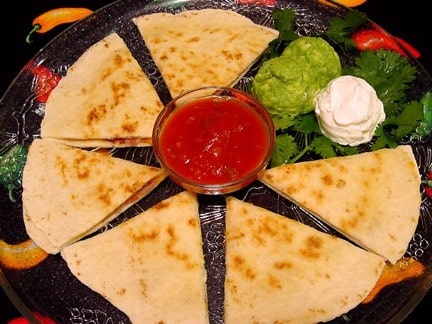 Santa Fe Spinach Quesadillas