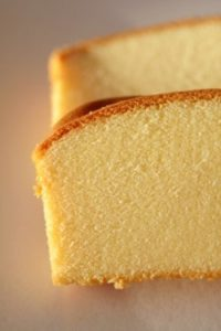 Two slices of homemade copycat Sara Lee Pound Cake