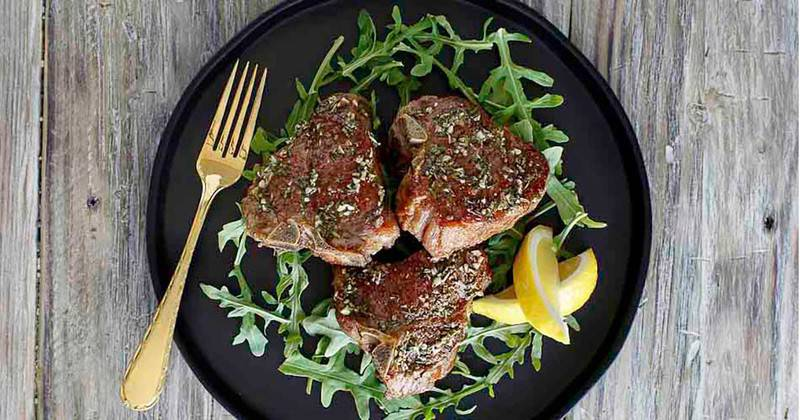 Prepare perfectly seasoned pan seared lamb chops.