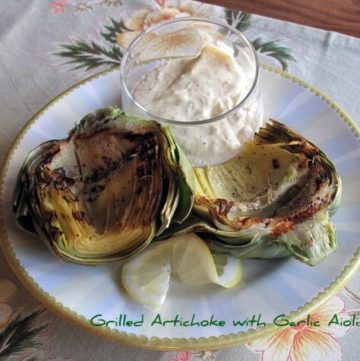 Garlic Aioli and Grilled Artichoke