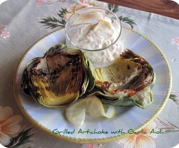 Garlic Aioli and Grilled Artichoke