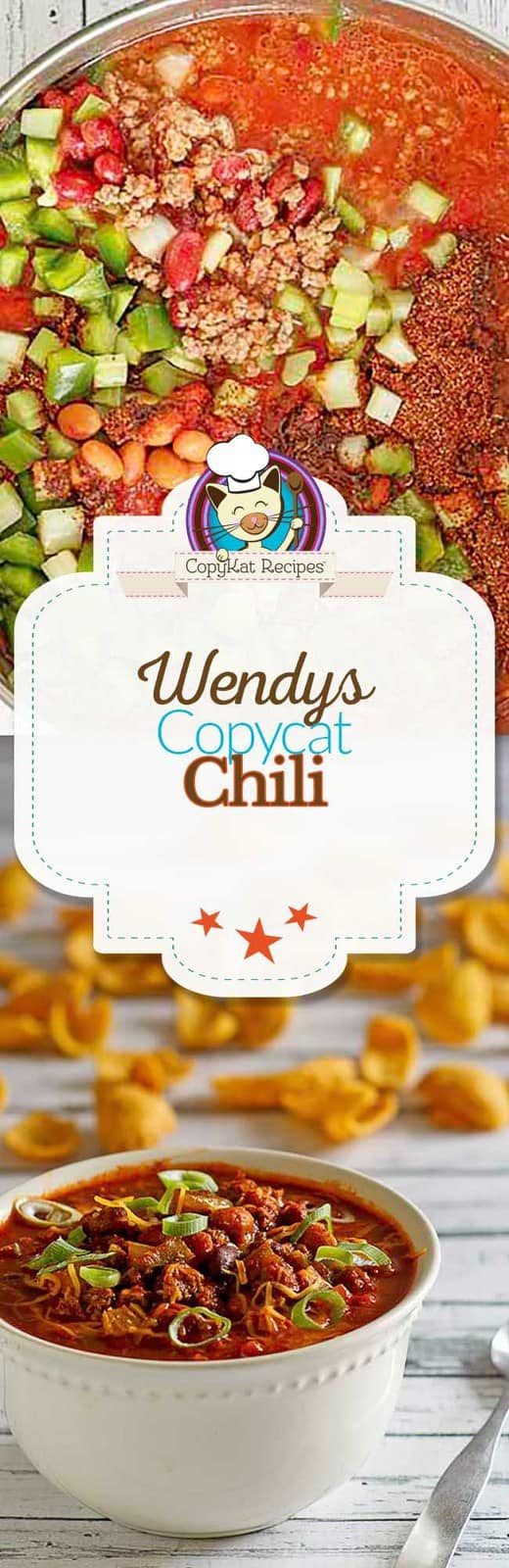 You can recreate copycat Wendy's Chili at home with this easy recipe. #copycat #Wendys #soup #stovetop #seasoning #recipe