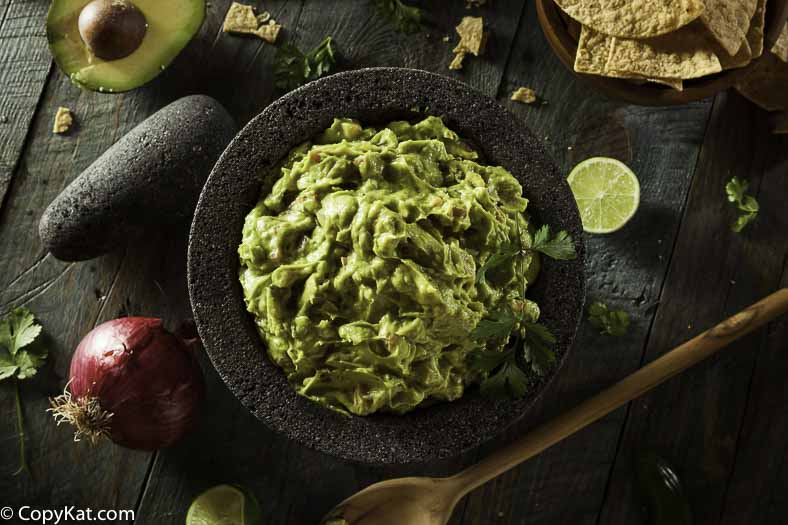 A bowl of freshly made guacamole