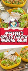 Homemade Applebees Oriental Chicken Salad photo collage