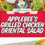 Homemade Applebees Oriental Chicken Salad photo collage