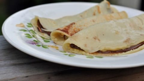 Cocos Nutella Crepes