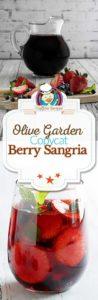 Collage of homemade Olive Garden Berry Sangria photos
