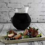 A pitcher of homemade Olive Garden Berry Sangria
