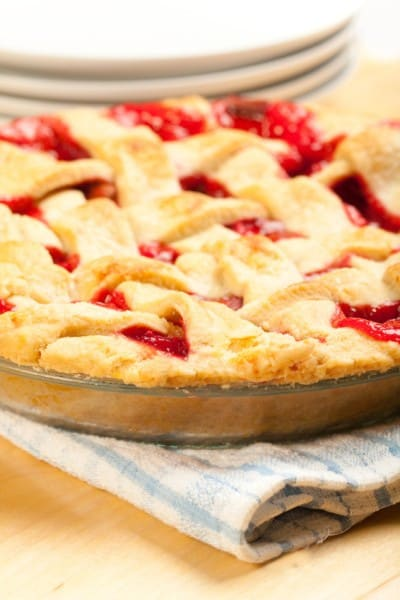 whole rhubarb custard pie