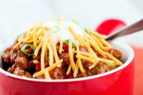 bowl of indiana chili