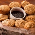 apple muffins and jam