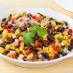 dish of black beans and corn