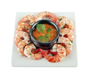 boiled shrimp on a plate