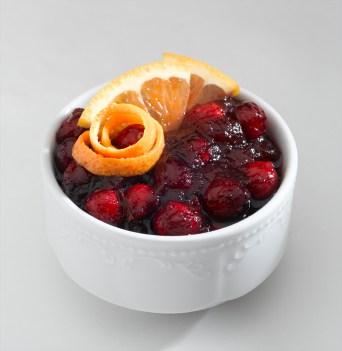 bowl of cranberry salad