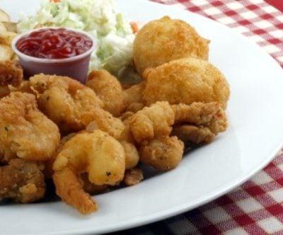 fried shrimp on a plate