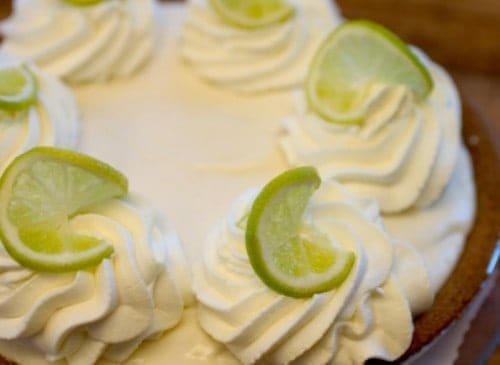 Perfectly made pappadeaux key lime pie with graham cracker crust