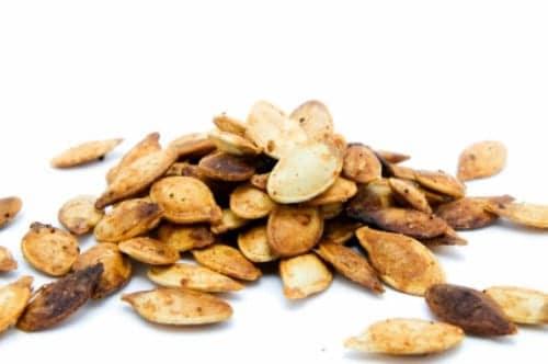 pile of roasted pumpkin seeds