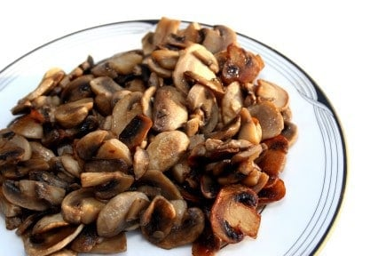 sauteed mushrooms on a plate
