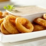 plate of onion rings