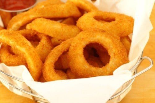 basket of onion rings