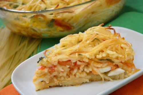 pie of spaghetti pie