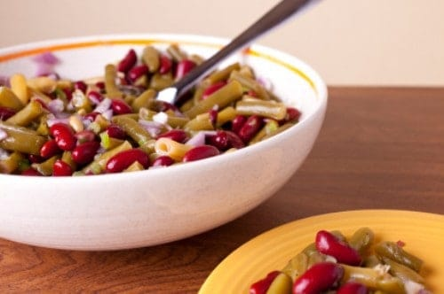 bowl of three bean salad