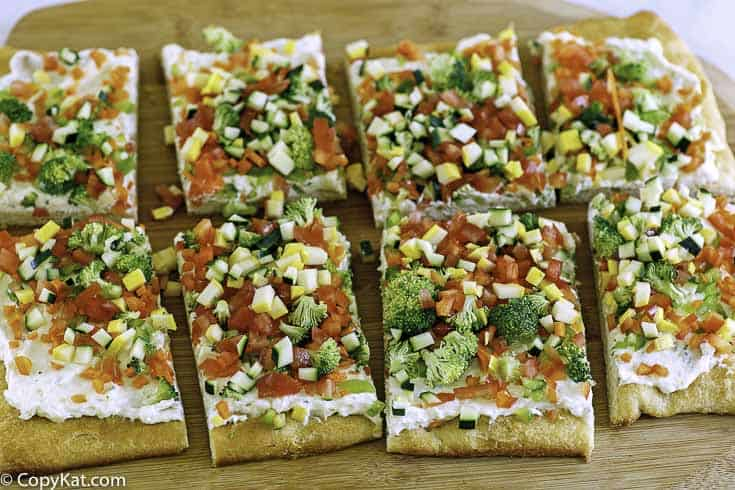 veggie cold pizza appetizer