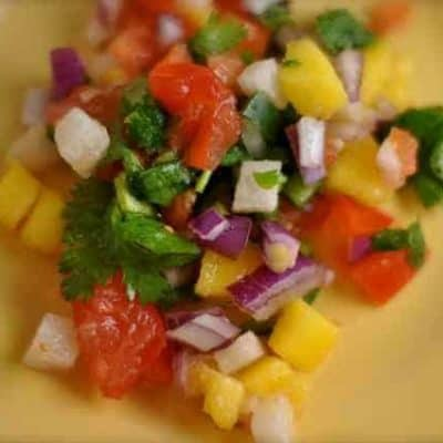 Make Chachos Mango salsa at home.