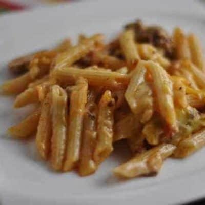 Casserole cheese and macaroni