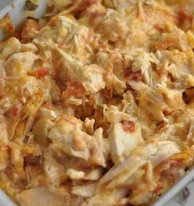 Chicken Stuff - chicken, rotel, and cheese