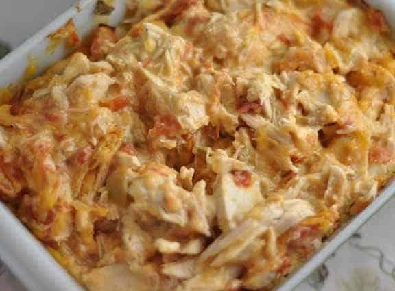 Chicken Stuff - chicken, rotel, and cheese