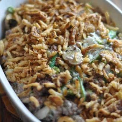Green Bean Casserole with Hamburger