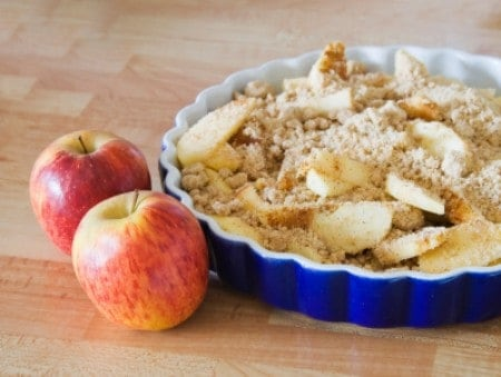 unbaked apple cobbler