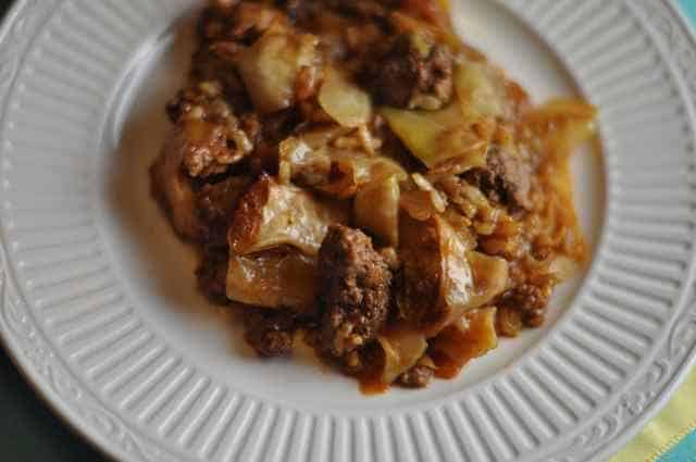 plate of cabbage roll casserole