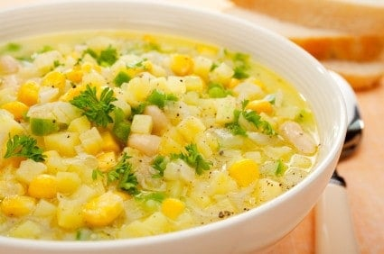 corn chowder soup bowl