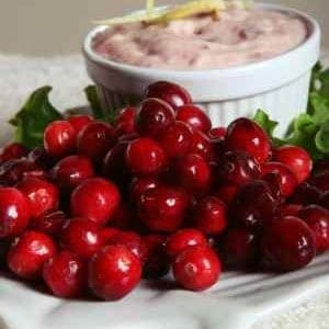 fresh cranberries and butter